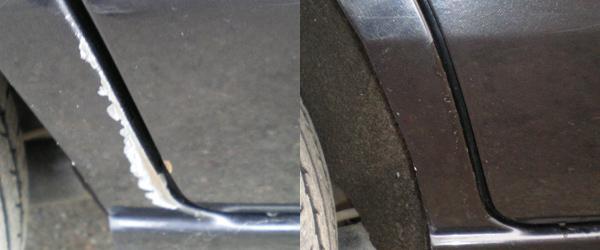 Фото ремонта царапин до после