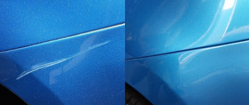 Фото ремонта царапин на авто до после