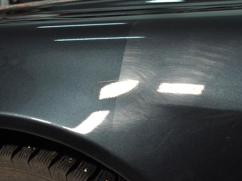 Фото полировки автомобиля до и после