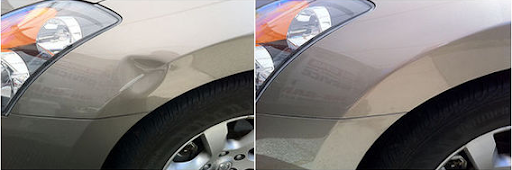 Фото ремонта крыла до и после