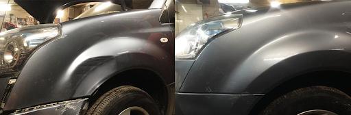 Фото ремонта крыла авто до и после