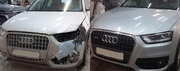 Фото до и после восстановления геометрии